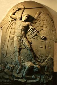 St Michael, Slaying Satan
