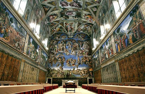 Sistine Chapel, where Cardinal Electors Choose a Pope